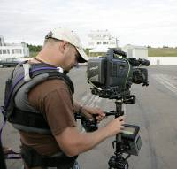 Nils Molitor am Set von Magmafilm