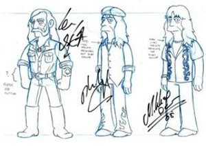 Lemmy Kilmister bei den Simpsons