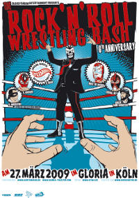 Rock and Roll Wrestling Bash Poster Plakat