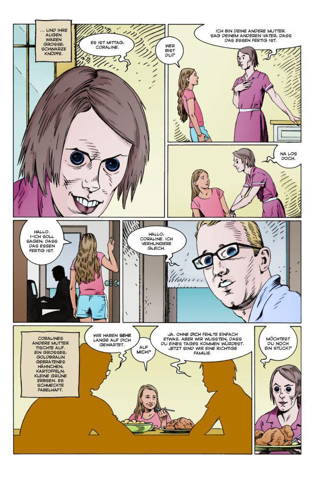 Coraline Comic Seite 1