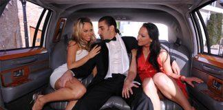 Cum in my Limousine Szenen Foto von Private