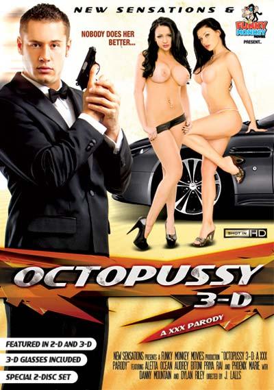 Octopussy 3-D: A XXX Parody DVD Cover