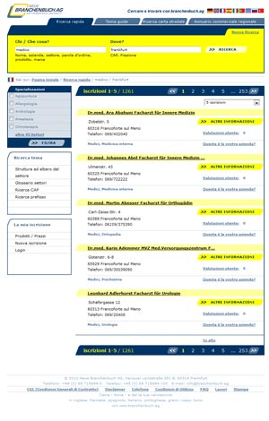 Neue Branchenbuch AG Screenshot