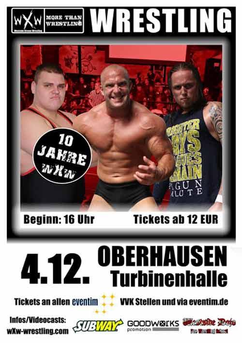 wXw Wrestling Plakat Turbinenhalle Oberhausen Bild
