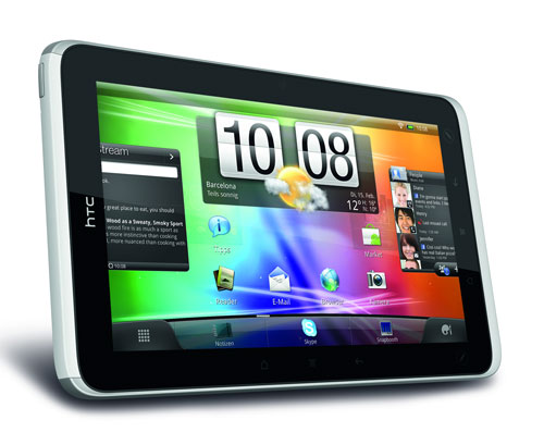 HTC Flyer Tablet Display Ansicht