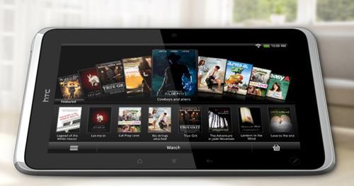 HTC Flyer mit Filmen über HTC Watch