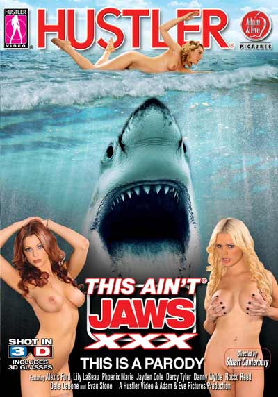 This Ain´t Jaws XXX 3D Blu-ray Cover von Hustler Video