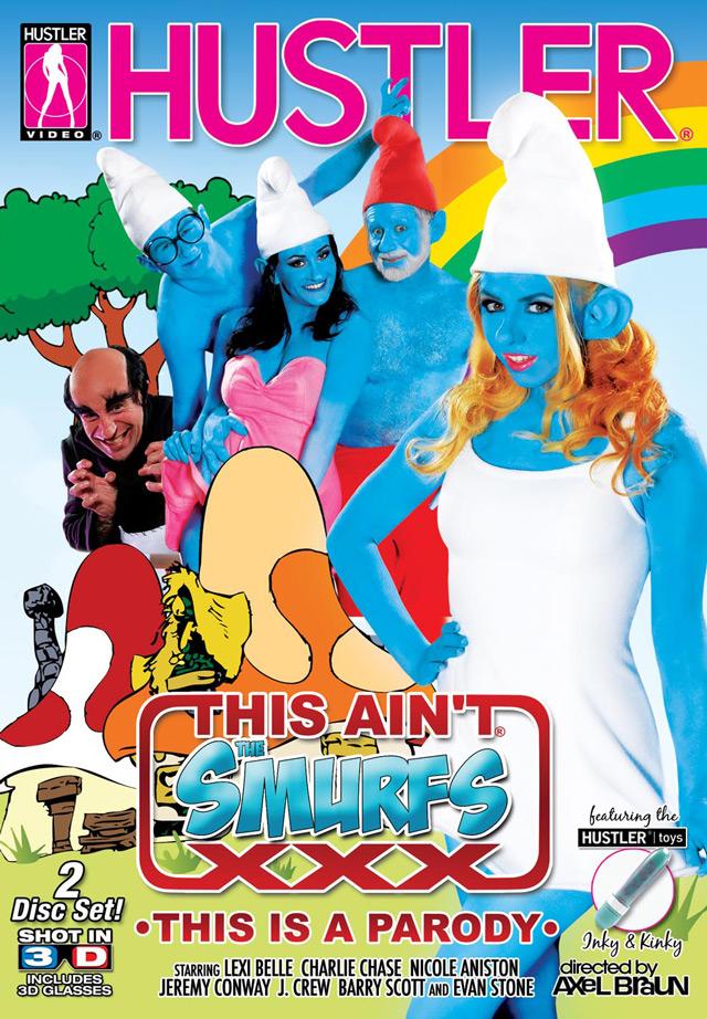 This ain't Smurfs XXX 3D DVD Cover