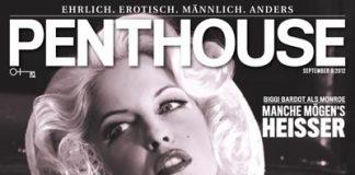 Penthouse Magazin Cover mit biggi bardot