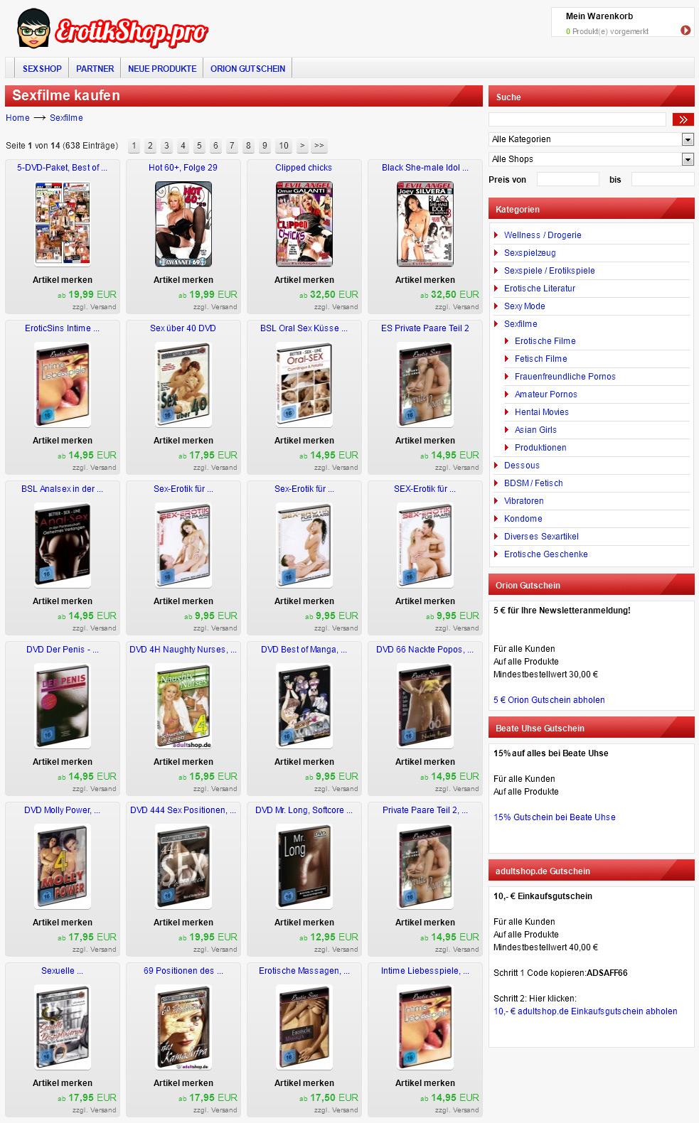 erotikshop pro Sexfilme