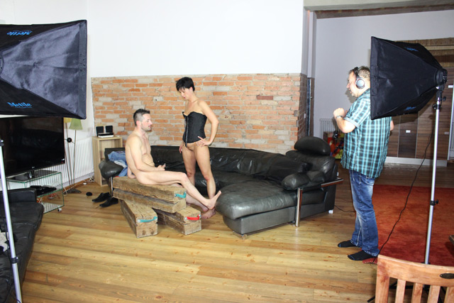 Sascha Hannig beim Pornofilm Dreh