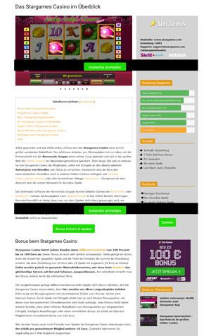 GameOasis Stargames Casino Testbericht Screenshot
