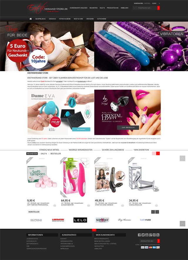 Erotikversand Store Screenshot 1