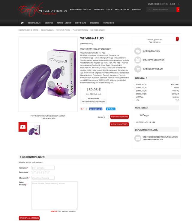 Erotikversand Store Screenshot 2