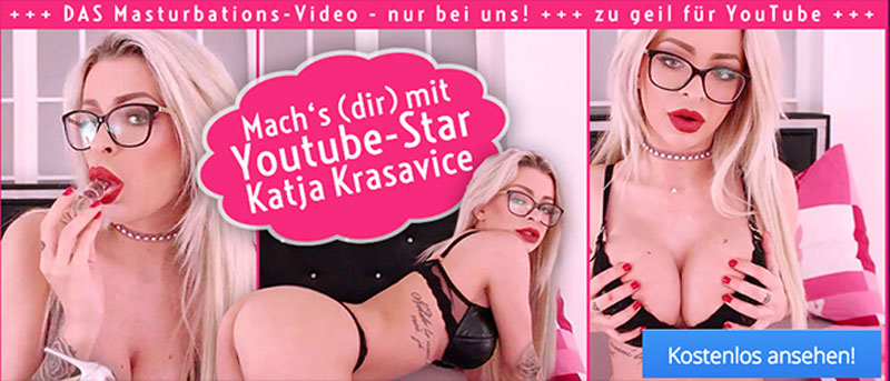 Katja Krasavice mit unzensiertem Masturbations-Video