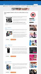 Menstoyshub.com: Screenshot des Blogs