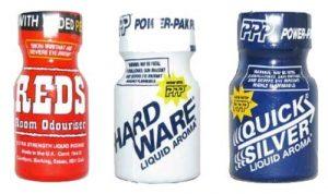 Beispiele für Poppers Flaschen