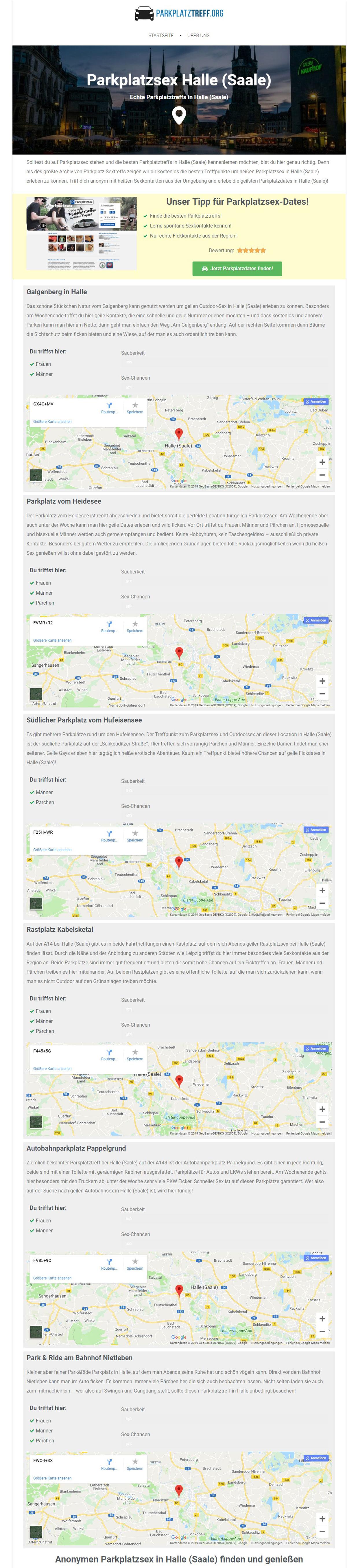 Testbericht zu Parkplatztreff.org - Sextreffpunkte in Sachsen-Anhalt im Detail